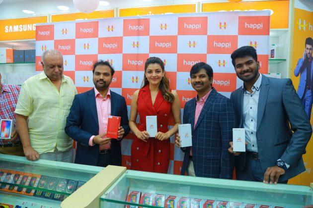 kajal aggarwal red dress photos at happi mobiles launch at hanumakonda 7