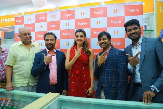 kajal aggarwal red dress photos at happi mobiles launch at hanumakonda 8