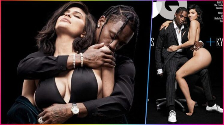 Kylie Jenner Hot Pose With Boyfriend Travis Scott for GQ Magazine Cover