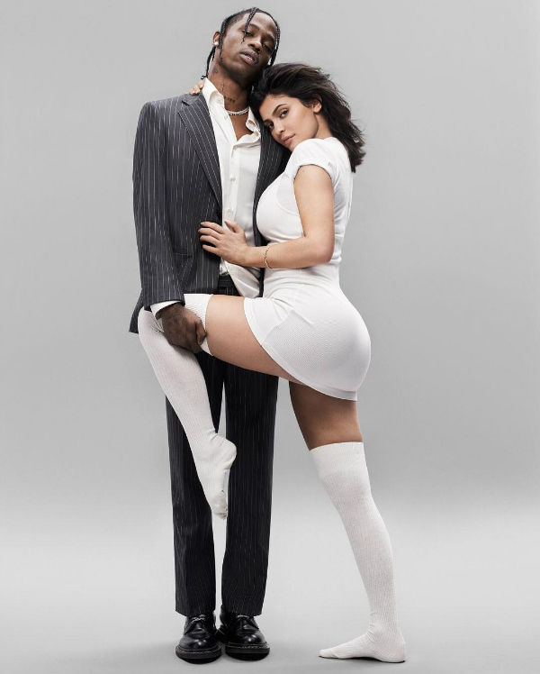kylie jenner hot pose with boyfriend travis scott for gq magazine cover 4
