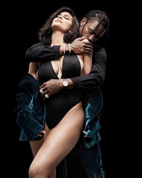 kylie jenner hot pose with boyfriend travis scott for gq magazine cover 5