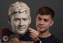 Mahesh Babu Face Wax Statue Photo