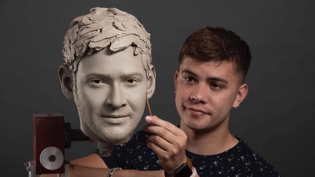 Mahesh Babu Face Wax Statue Photo