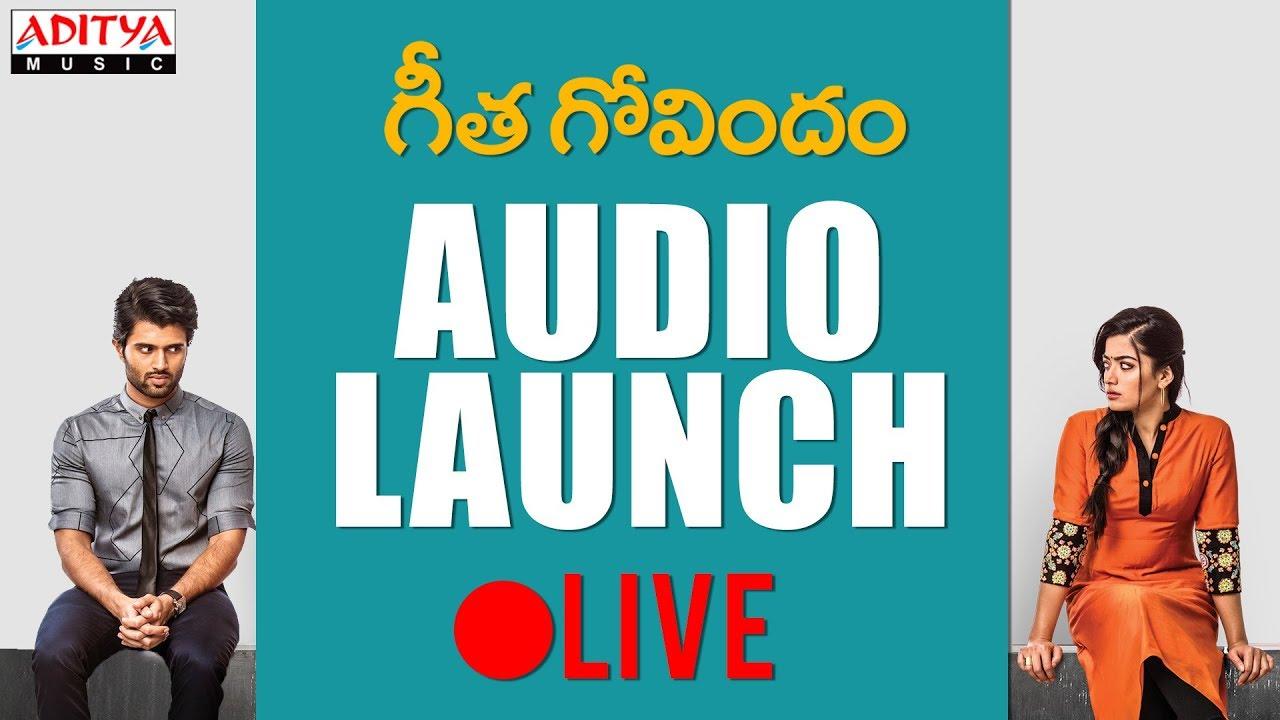 Geetha Govindam Audio Launch Live Online Streaming