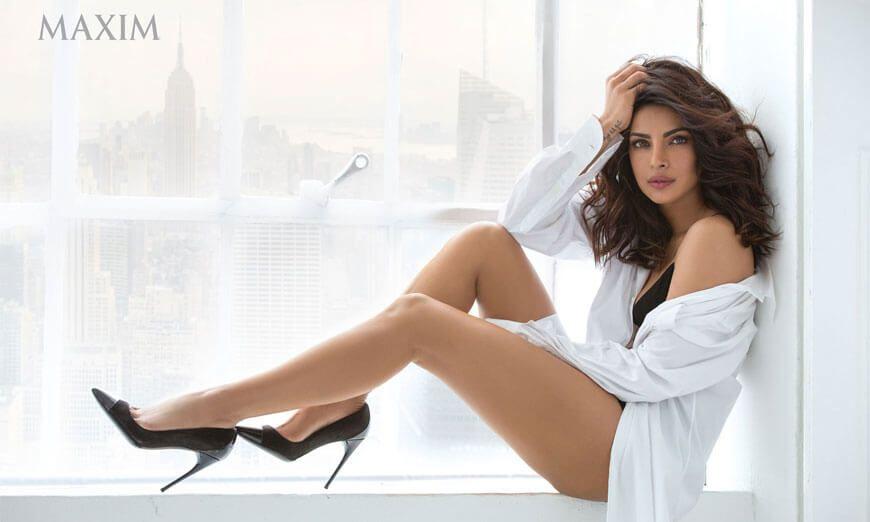 Priyanka Chopra Maxim India Hottest Cleavage Photoshoot