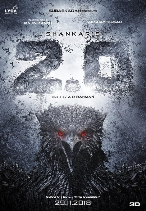 Rajinikanth 2.0 Release Date Fixed on 29th November 2018