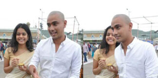 Riddhi Kumar and Raj Tarun Visited Tirumala