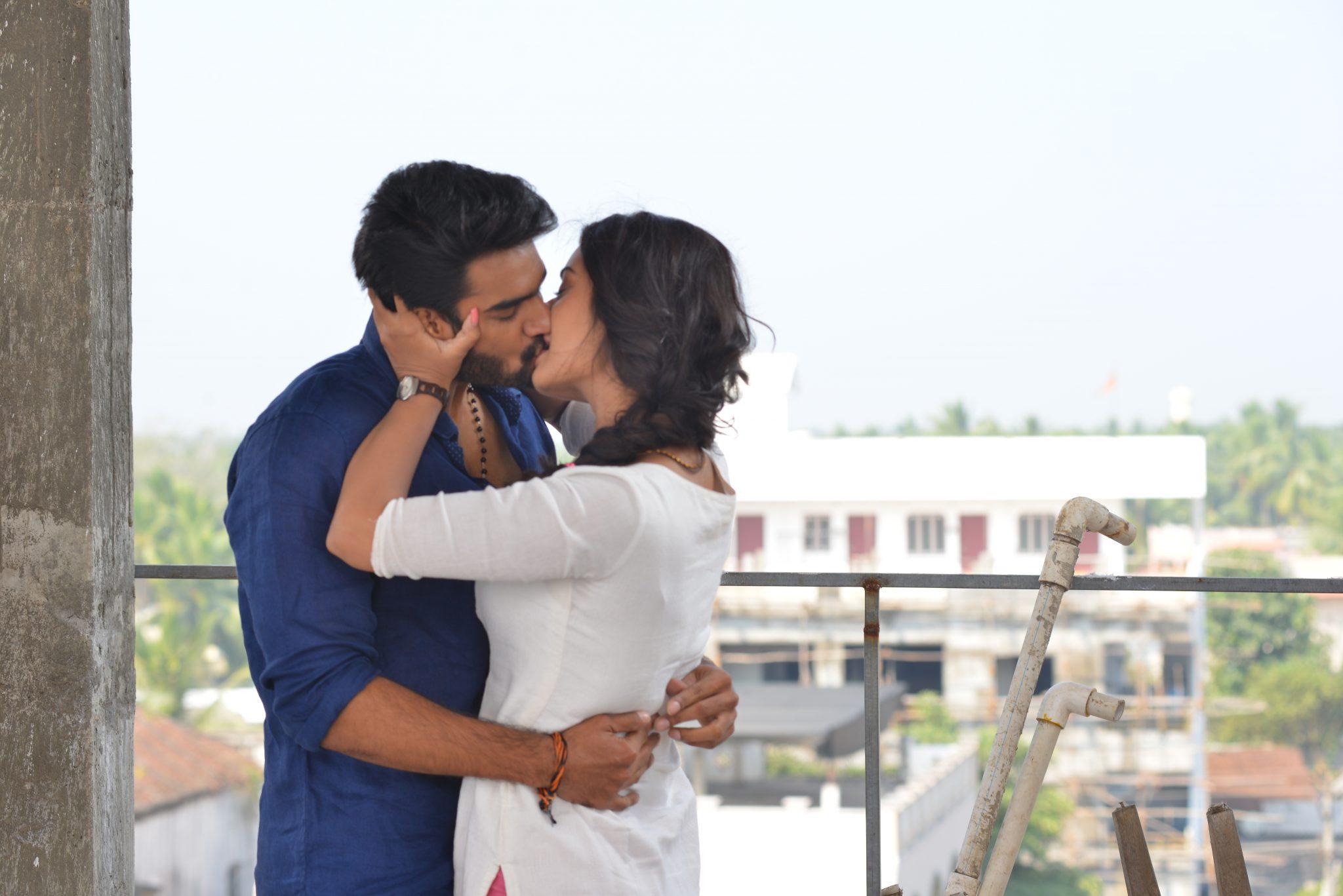 rx100 movie actress payal rajput and karthikeya liplock stills southcolors 10