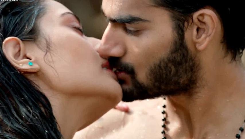 rx100 movie actress payal rajput and karthikeya liplock stills southcolors 2