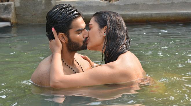 rx100 movie actress payal rajput and karthikeya liplock stills southcolors 4