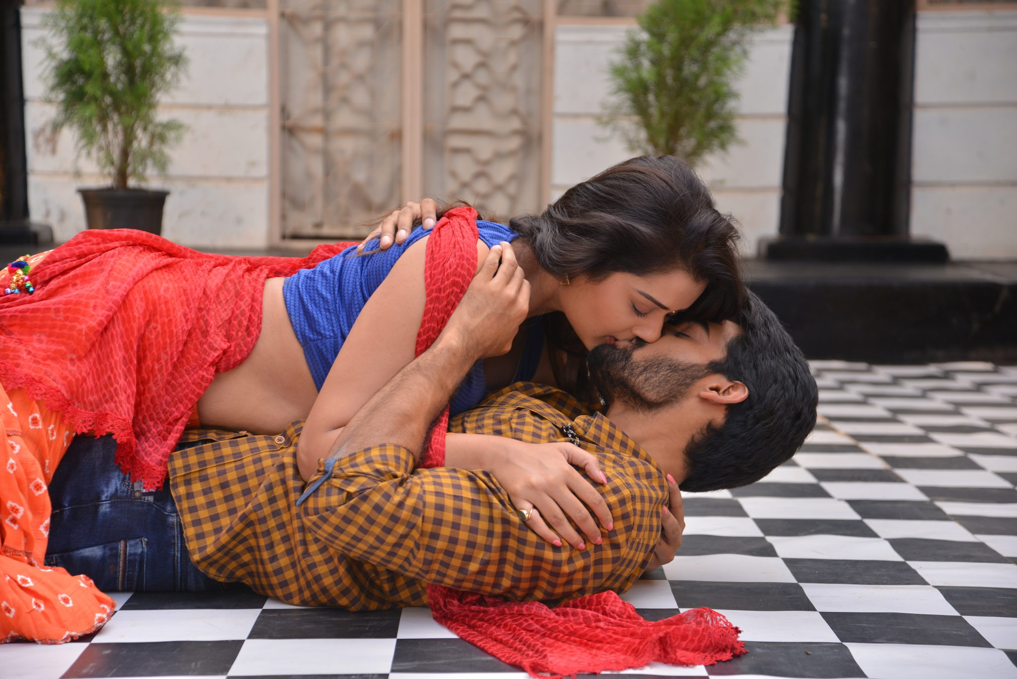 rx100 movie actress payal rajput and karthikeya liplock stills southcolors 5