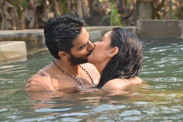 RX100 Movie Actress Payal Rajput and Karthikeya Liplock Stills