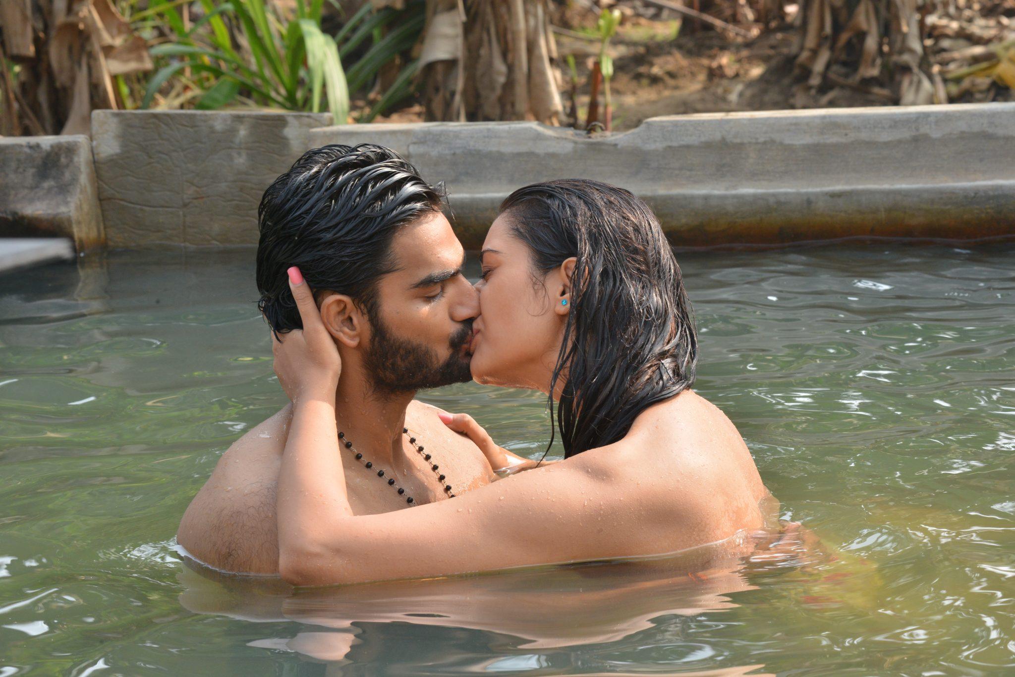 rx100 movie actress payal rajput and karthikeya liplock stills southcolors 9
