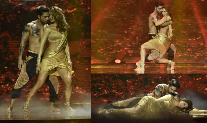 Salman Yusuff Khan and Esha Gupta Hot Sensuous Dance on Laal Ishq