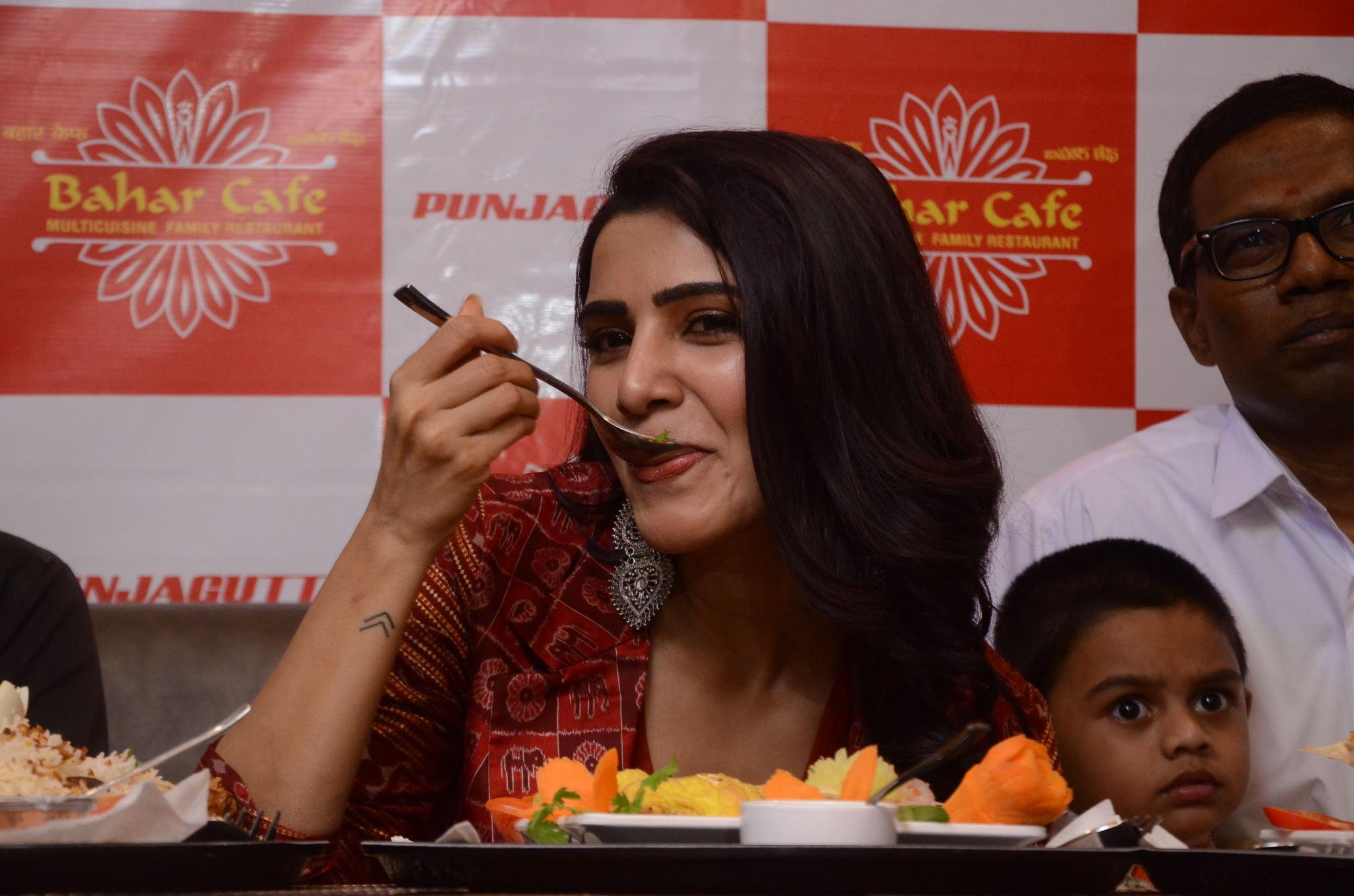 Samantha Akkineni Launches Bahar Cafe