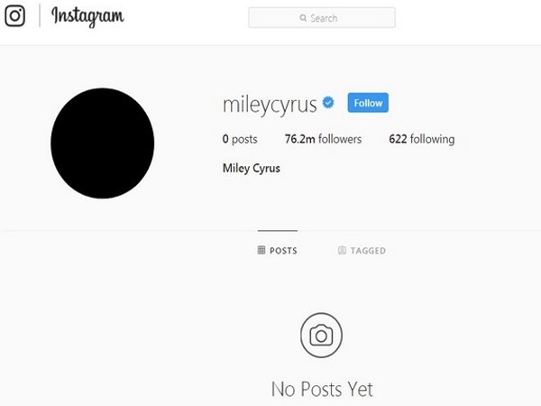 Why Miley Cyrus Deleted All Instagram Photos and Videos