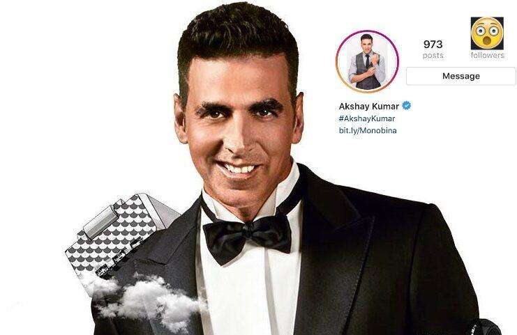 Akshay Kumar Hits 20 Million Instagram Followers