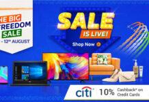 Flipkart Big Freedom Sale 2018