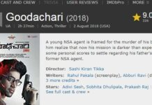 Goodachari Movie Receives 9.0 Rating
