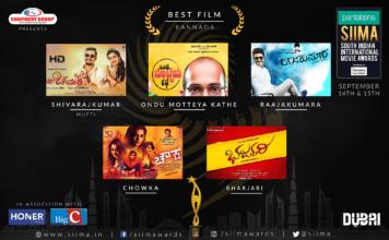 SIIMA Awards 2018 Kannada Nominations