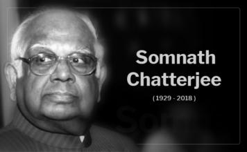 Somnath Chatterjeepassed away