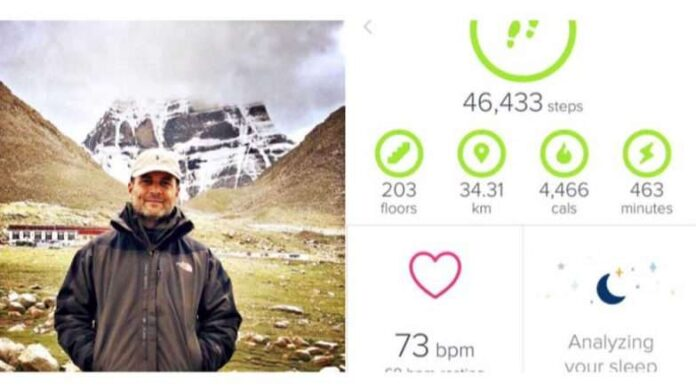 Rahul Gandhi Fitbit Data Shows He Walked Over 40,000 Steps in One Day