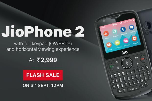 Reliance Jio Phone 2 Flash Sale On 12th September 2018