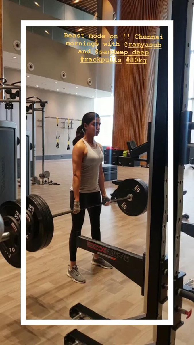 Samantha Akkineni Lifting 80 Kgs Deadlift - SouthColors