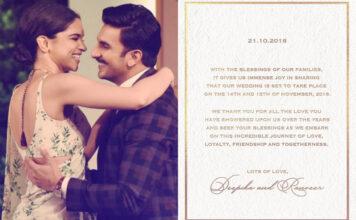 Ranveer Singh and Deepika Padukone Wedding Date Fixed