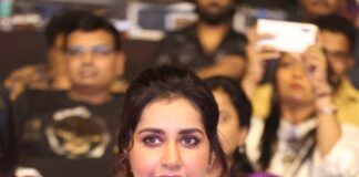 Raashi Khanna Hot Cleavage Photos at World Famous Lover Pre-Release Event
