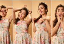 Rashmika Mandanna Cute Expressions Photoshoot Stills