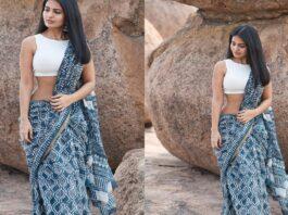 Actress Ananya Nagalla Hot Photos in White Saree
