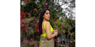 Rashmi Gautam Animal Print Saree Photos