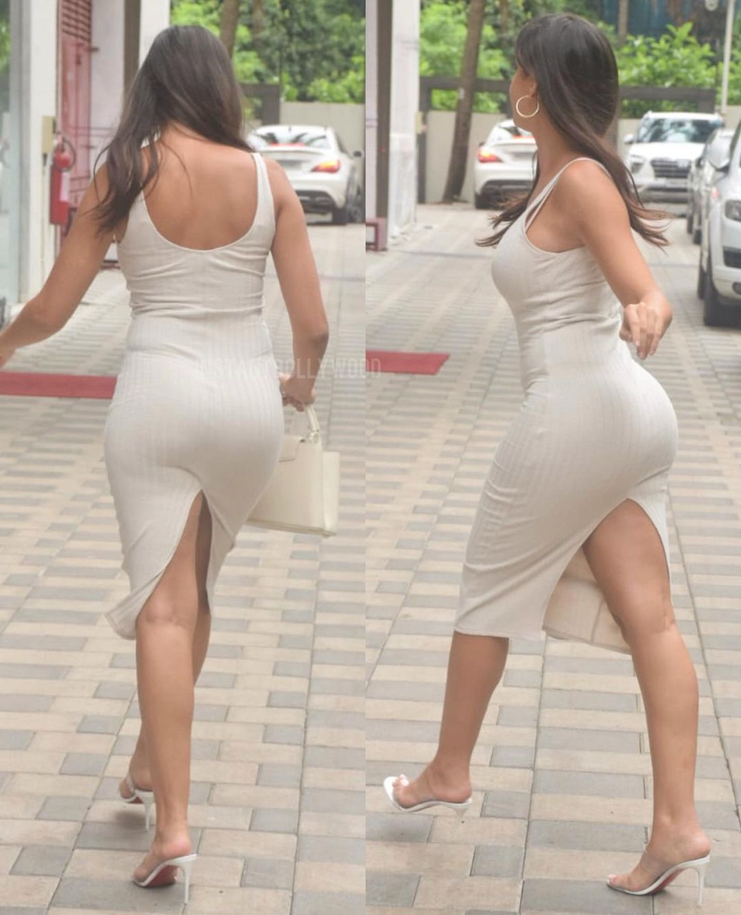 Nora Fatehi Bootylicious Curves in Bodycon Dress