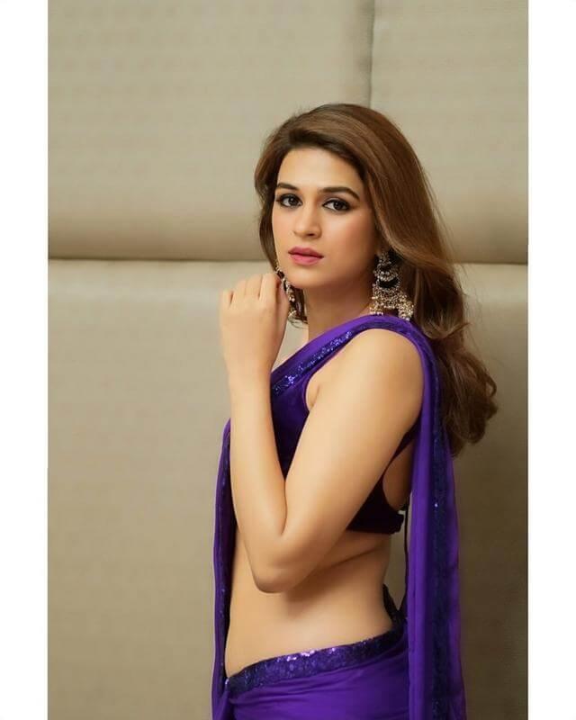 Shraddha Das Purple Saree Stills From Digital Influencer Awards In Hyderabad Theprimetalks 2
