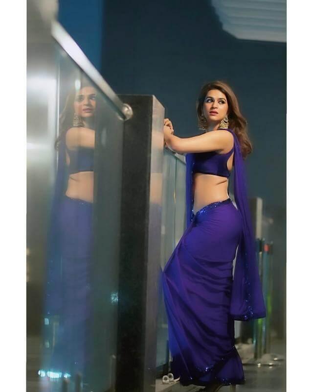 Shraddha Das Purple Saree Stills From Digital Influencer Awards In Hyderabad Theprimetalks 3
